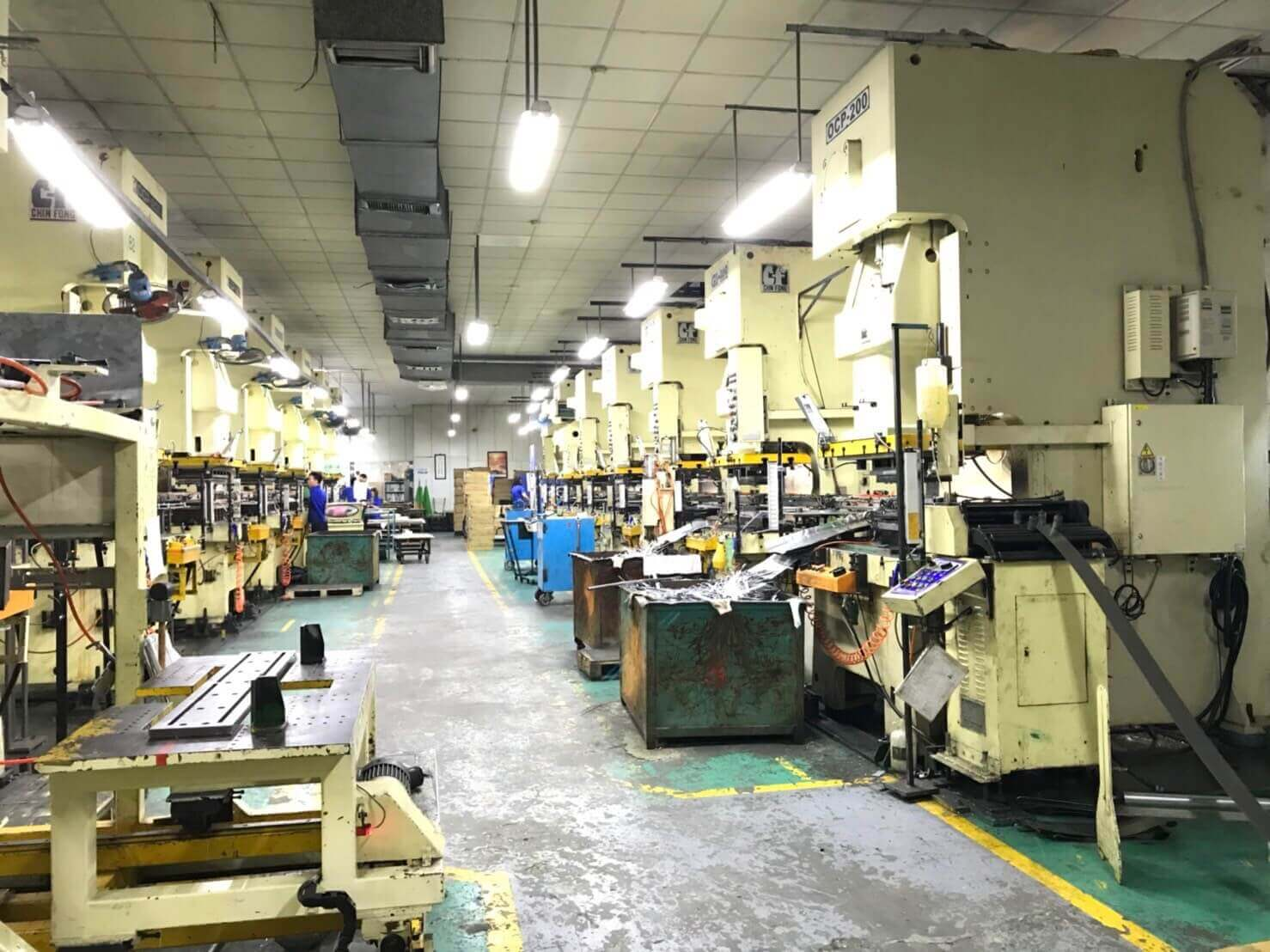 Sheet Metal Stamping Machines in Oscar Factory